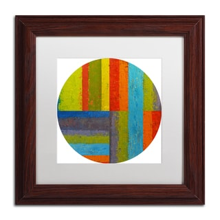 Michelle Calkins 'Round' Matted Framed Art
