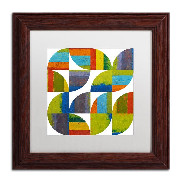 Michelle Calkins 'Quarter Rounds 4.0' Matted Framed Art