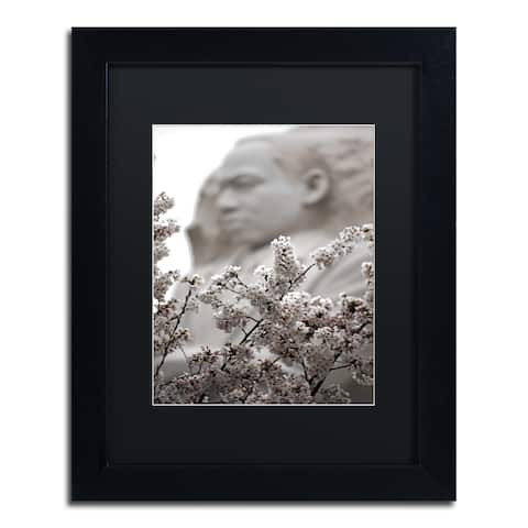 CATeyes 'MLK Blossoms' Matted Framed Art