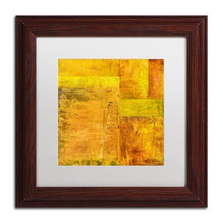 Michelle Calkins 'Essence of Yellow 2' Matted Framed Art
