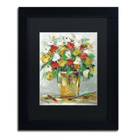 Hai Odelia 'Spring Flowers in a Vase 11' Matted Framed Art