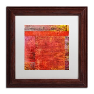 Michelle Calkins 'Essence of Red 2' Matted Framed Art
