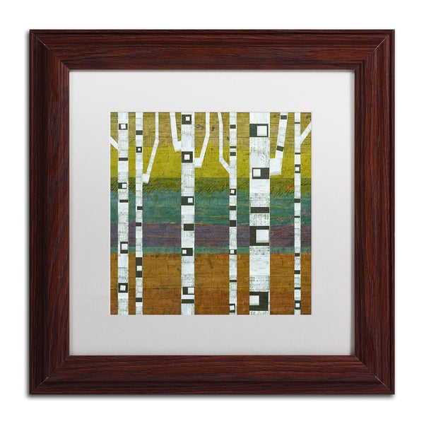 Michelle Calkins 'Birches 2.0' Matted Framed Art