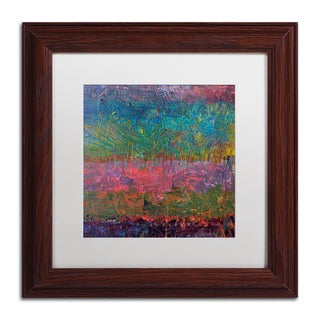 Michelle Calkins 'Wildflowers' Matted Framed Art