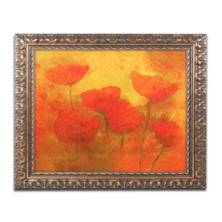 Adam Kadmos 'Poppies' Ornate Framed Art