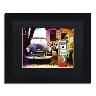 Philippe Hugonnard 'Gas Station Route 66' Matted Framed Art