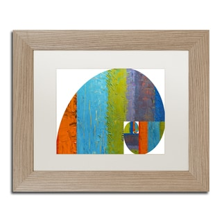 Michelle Calkins 'Fibonacci Spiral' Matted Framed Art