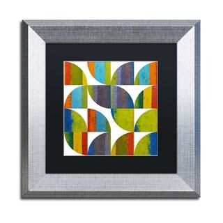 Michelle Calkins 'Quarter Rounds 1.0' Matted Framed Art