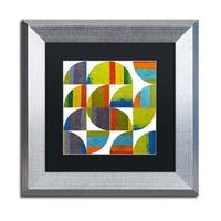 Michelle Calkins 'Quarter Rounds 2.0' Matted Framed Art