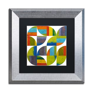 Michelle Calkins 'Quarter Rounds 4.0' Matted Framed Art