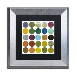 Michelle Calkins 'Rustic Rounds 5.0' Matted Framed Art