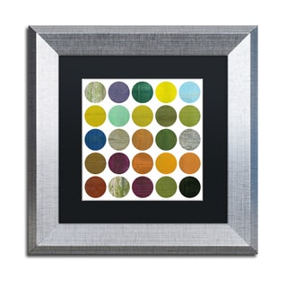 Michelle Calkins 'Rustic Rounds 6.0' Matted Framed Art