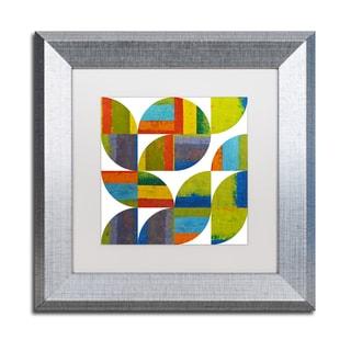 Michelle Calkins 'Quarter Rounds 3.0' Matted Framed Art