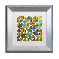 Michelle Calkins 'Quarter Rounds 6.0' Matted Framed Art