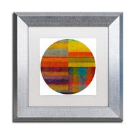 Michelle Calkins 'Round 4.0' Matted Framed Art