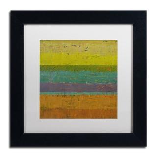 Michelle Calkins 'Chartreuse Line' Matted Framed Art