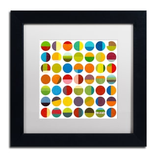 Michelle Calkins 'Forty Nine Circles' Matted Framed Art