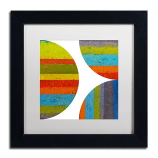Michelle Calkins 'Quarter Rounds 2.0' Matted Framed Art