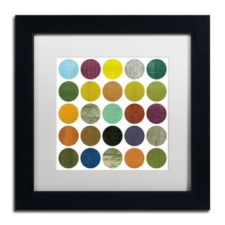 Michelle Calkins 'Rustic Rounds 4.0' Matted Framed Art