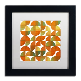Michelle Calkins 'Sixty Four Quarters' Matted Framed Art