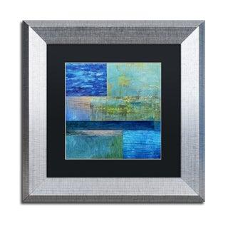 Michelle Calkins 'Essence of Blue' Matted Framed Art