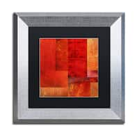 Michelle Calkins 'Essence of Red' Matted Framed Art