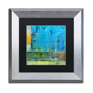 Michelle Calkins 'Essence of Blue 2' Matted Framed Art