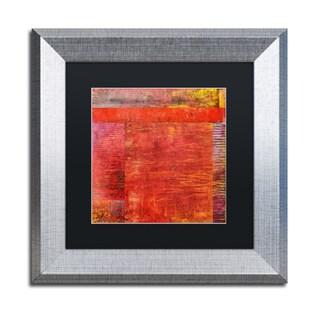 Michelle Calkins 'Essence of Red 2' Matted Framed Art