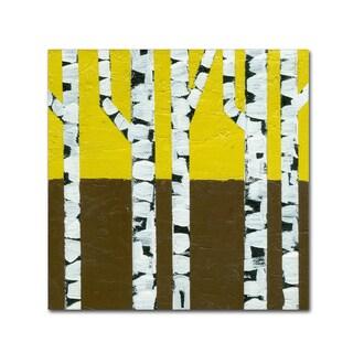 Michelle Calkins 'Seasonal Birches - Fall' Canvas Art