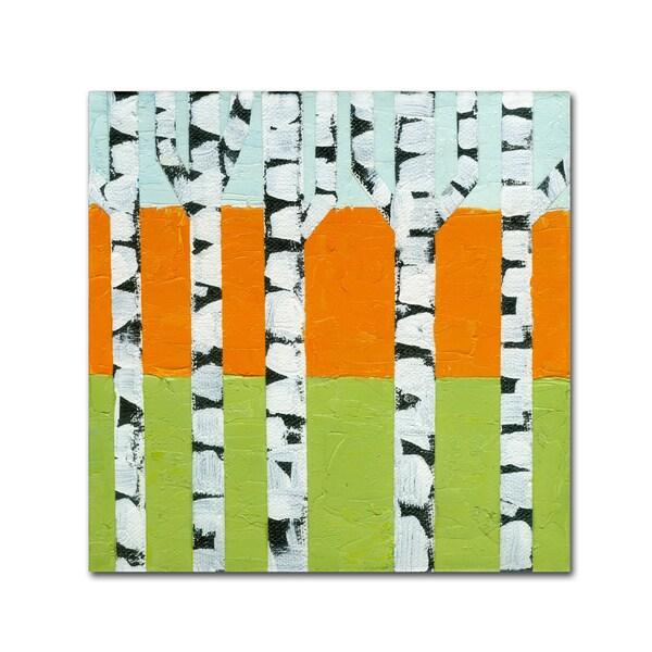 Michelle Calkins 'Seasonal Birches - Spring' Canvas Art