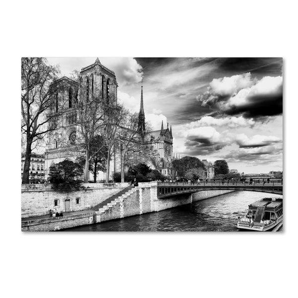 Philippe Hugonnard 'Notre Dame Cathedral Paris II' Canvas Art - Multi