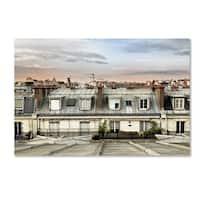 Philippe Hugonnard 'Paris Rooftops' Canvas Art - Brown/Off-White