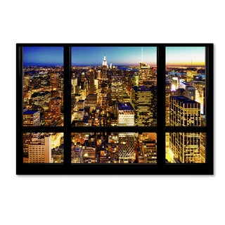 Philippe Hugonnard 'Night View of Manhattan' Canvas Art