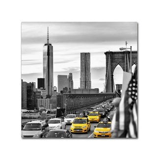 Philippe Hugonnard 'Taxis in New York' Canvas Art