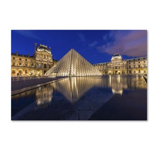 Mathieu Rivrin 'Golden Hour in the Louvre' Canvas Art