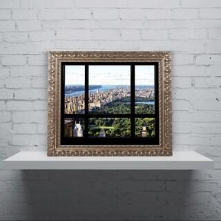 Philippe Hugonnard 'Central Park Window' Ornate Framed Art