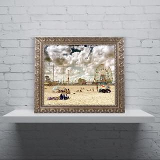 Philippe Hugonnard 'Coney Island Beach' Ornate Framed Art