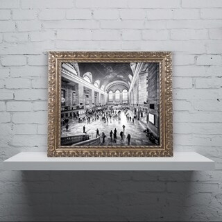 Philippe Hugonnard 'Grand Central Terminal NYC' Ornate Framed Art
