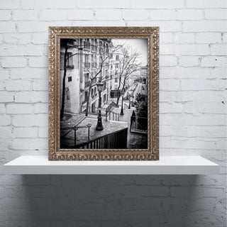 Philippe Hugonnard 'Parisian Lamppost' Ornate Framed Art