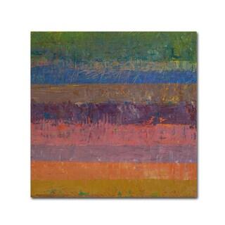 Michelle Calkins 'Pink Line' Canvas Art