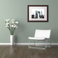 Philippe Hugonnard 'New York Architecture' Matted Framed Art