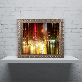 Philippe Hugonnard 'Urban Stretch NYC IV' Ornate Framed Art