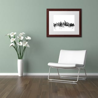 Michael Tompsett 'Seattle Skyline B&W' Matted Framed Art
