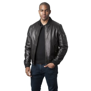 Mason & Cooper Men's Leather Flight Jacket