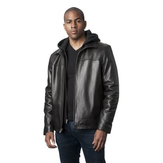 Mason and Cooper Men's Black Leather Jacket