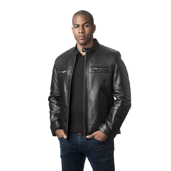 Men's Mason & Cooper Black Lambskin Jacket