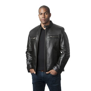 Men's Mason & Cooper Black Lambskin Jacket