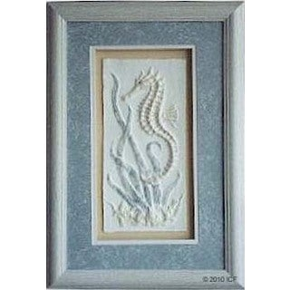 Cast Paper 'Seahorse II' 12x18 Indoor or Outdoor Option Available