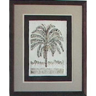 Cast Paper 'Pygmy Date Palm' 18x22 Indoor or Outdoor Option Available