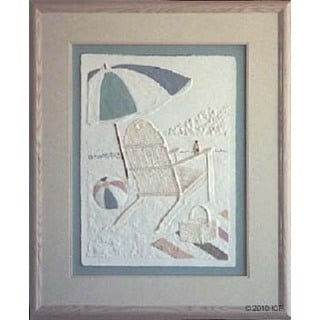 Cast Paper 'Wish You Were Here I' 36x44 Indoor or Outdoor Option Available